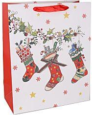 Karácsonyi zoknik ajándéktasak - 26 x 32 cm - 1. Kép