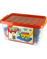 Mega Puzzle műanyag 204 darabos építőjáték - 1. Kép