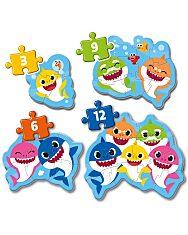 Baby Shark: My first puzzle (Az első kirakóm) - 4 az 1-ben (3+6+9+12 db-os) puzzle - 2. Kép