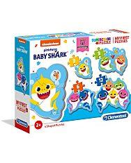 Baby Shark: My first puzzle (Az első kirakóm) - 4 az 1-ben (3+6+9+12 db-os) puzzle - 1. Kép
