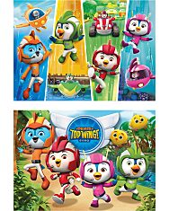 Nickelodeon: Szuper szárny (Top Wing) 2 az 1-ben (2x60 db-os) Szuperszínes puzzle - 2. Kép