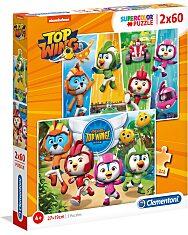 Nickelodeon: Szuper szárny (Top Wing) 2 az 1-ben (2x60 db-os) Szuperszínes puzzle - 1. Kép