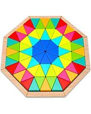 Nyolcszögletes fa puzzle - 1. Kép