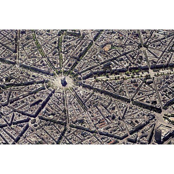 Piatnik puzzle 1000 db - Párizs légifelvétel - 1. Kép