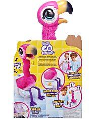 Potyi, a beszélő, kakiló rózsaszín flamingó (Gotta Go Flamingo) csomagolás hátulról