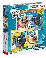 Disney Kutyapajtik 2 az 1-ben (2x20 db-os) Szuperszínes puzzle - 1. Kép