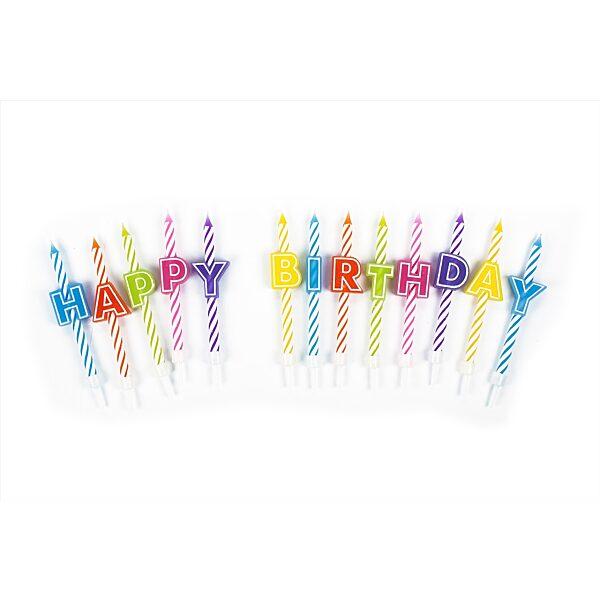 """Trendhaus """"Happy Birthday"""" 13 szál szülinapi gyertya szett - 2. Kép"""