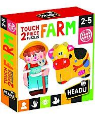2 Részes Formapuzzle - Farm - 1. Kép