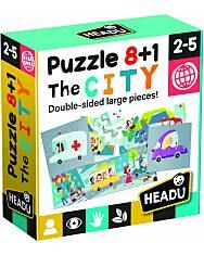 8+1 Kétoldalas Puzzle - Városka - 1. Kép