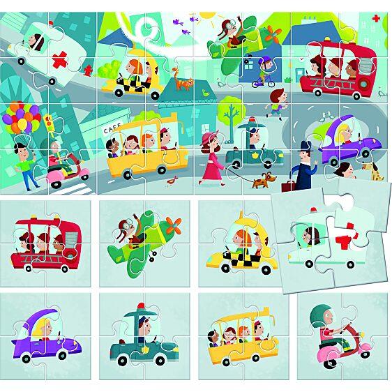 8+1 Kétoldalas Puzzle - Városka - 2. Kép