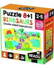 8+1 Kétoldalas Puzzle - Dinoszauruszok - 1. Kép