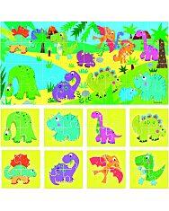 8+1 Kétoldalas Puzzle - Dinoszauruszok - 2. Kép