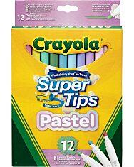 Crayola Super Tips Filc - Pasztell (12 Db) - 1. Kép