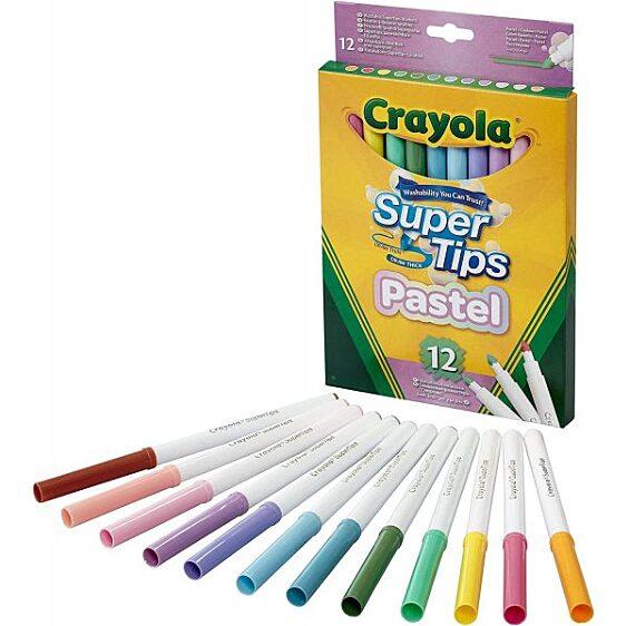 Crayola Super Tips Filc – Pasztell (12 db)