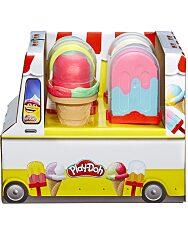 Play-doh: Jégkrém Vagy Fagylaltkészítő Gyurmaszett - Többféle - 3