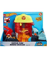 Hot Wheels City: Szuperugratós Tűzoltóság Játékszett 1