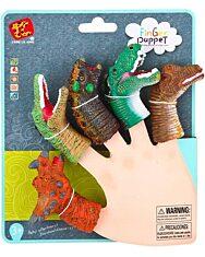 Dinoszaurusz ujjbáb 5 darabos készlet - 1. Kép