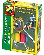 SES táblakréta 12 darabos készlet - színes - 1. Kép