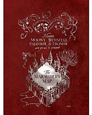 Harry Potter: Tekergők térképe négyzetrácsos füzet - A5