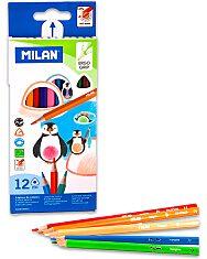 Milan háromszögletű 12 darabos színes ceruza